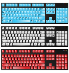 Keyboard red blue and white vector