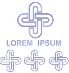 Light purple cycle logo design set vector