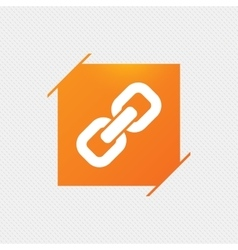 Link sign icon Hyperlink symbol vector image
