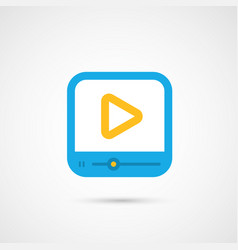 Media icon - media player vector