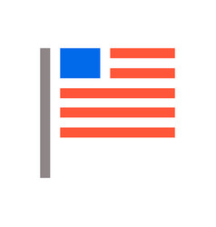 minimal usa flag icon unaited states of america vector image