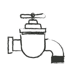 monochrome blurred silhouette of faucet icon vector image