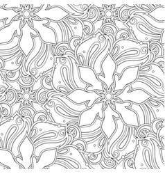 Monochrome seamless pattern with mandala motifs vector