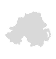 northern ireland map uk united great vector image