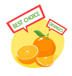 Organic badge with orange vector