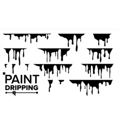 paint dripping liquid abstract current vector image