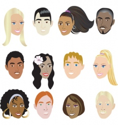 people faces vector image