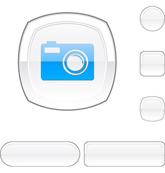 Photo white button vector