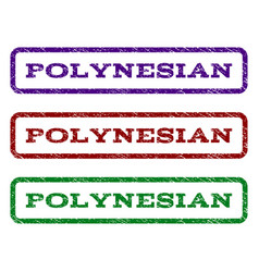 Polynesian watermark stamp vector