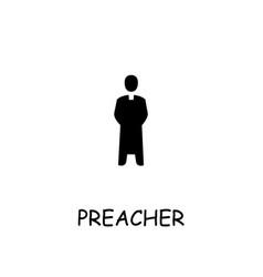 Preacher flat icon vector