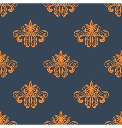Retro orange seamless pattern vector image