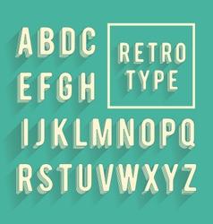 Retro poster alphabet vector