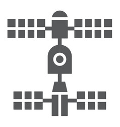 satellite glyph icon space and science vector image