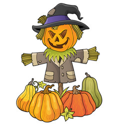 scarecrow topic image 3 vector image