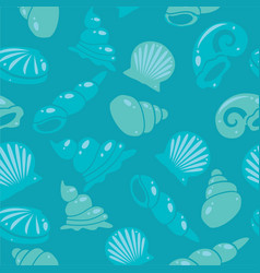 sea shells seamless pattern vector image