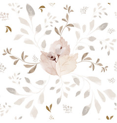 seamless pattern with flower watercolor vector image
