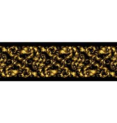 seamless vintage design element Floral border with vector image