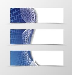set banner grid design vector image