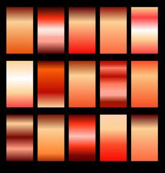 Set red gradients vector