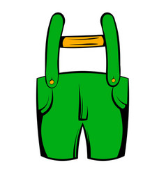 short green pants icon icon cartoon vector image