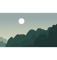 Silhouette of cliff landscape backgrounds vector image