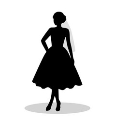 Silhouette of the bride vector