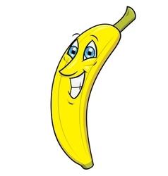 Smiling banana 2 vector image