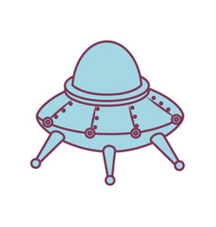 space ship kids toy isolated icon vector image