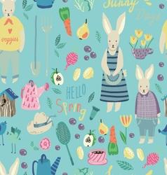 Spring Garden seamless pattern vector