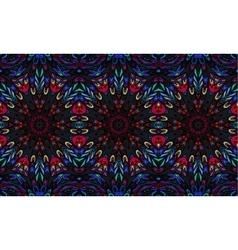 Striped seamless pattern Original colorful border vector image