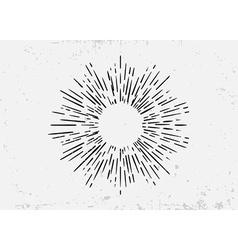 Sunburst on Starburst Element for Logo Creating or vector image