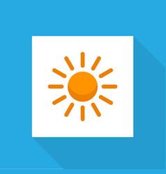 sunny icon flat symbol premium quality isolated vector image