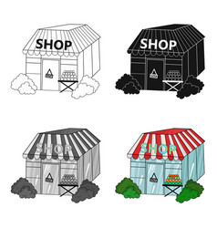 supermarket icon in cartoon style isolated on vector image