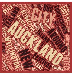 Take a trip to New Zealand text background vector