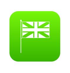 uk flag icon digital green vector image