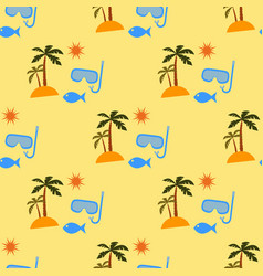 Vacation pattern vector