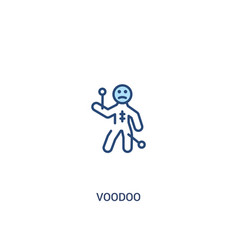 Voodoo concept 2 colored icon simple line element vector