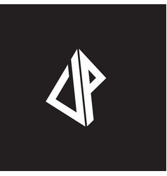 Vp logo monogram with standout triangle shape vector