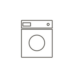 washer icon simple element from map and vector image