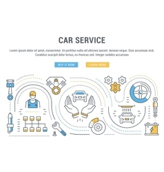 Website Banner and Landing Page Car Service vector image