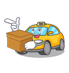 With box taxi character cartoon style vector