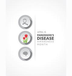 World parkinsons disease awareness month observed vector