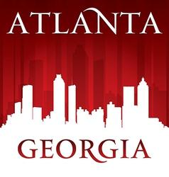 Atlanta Georgia city skyline silhouette vector image vector image