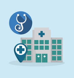 hospital medical service icon vector image vector image