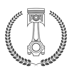 Iron car piston in the form of awards vector image vector image
