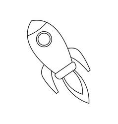 rocket startup business creativity innovation vector image