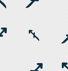 Sagittarius sign Seamless pattern with geometric vector image
