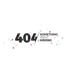 404 error page vector image