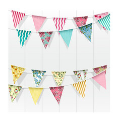 Bunting flags decoration on isolated background vector