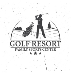 Golf club concept with golfer silhouette vector image